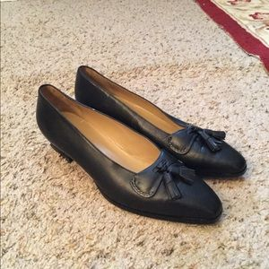 GUCCI TASSLE DOUBLE LEATHER PUMPS LOAFERS, AMAZING